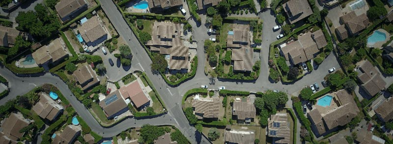 Birds Eye View of Neighborhood